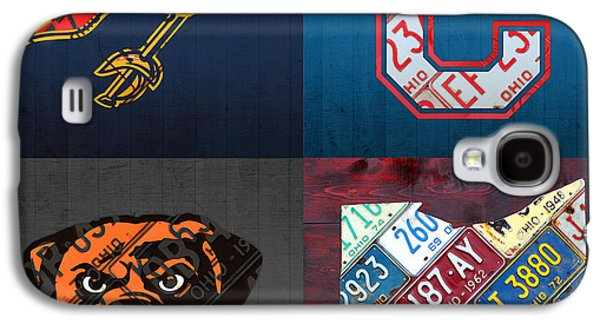 Cleveland Sports Fan Recycled Vintage Ohio License Plate Art Cavaliers Indians Browns And State Map Galaxy S4 Case