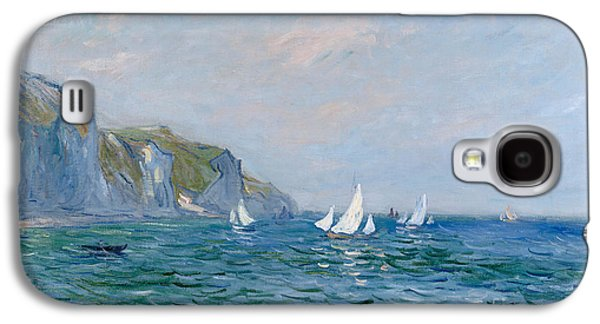 Cliffs And Sailboats At Pourville  Galaxy S4 Case by Claude Monet