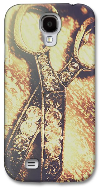 Close Up Of Jewellery Scissors Of Bronze Galaxy S4 Case by Jorgo Photography - Wall Art Gallery
