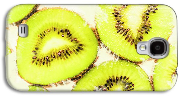 Close Up Of Kiwi Slices Galaxy S4 Case by Jorgo Photography - Wall Art Gallery