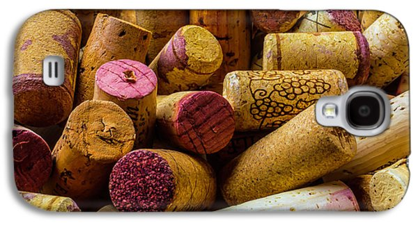 Close Up Wine Corks Galaxy S4 Case by Garry Gay