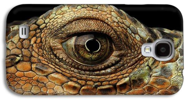 Closeup Eye Of Green Iguana, Looks Like A Dragon Galaxy S4 Case