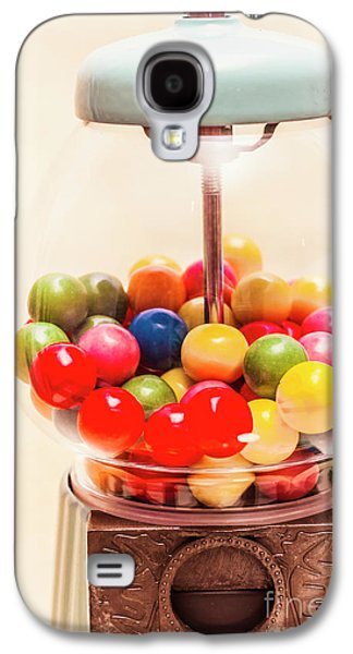Closeup Of Colorful Gumballs In Candy Dispenser Galaxy S4 Case by Jorgo Photography - Wall Art Gallery