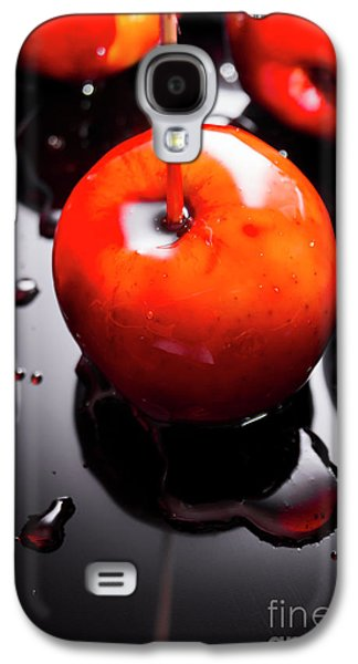 Closeup Of Red Candy Apple On Stick Galaxy S4 Case by Jorgo Photography - Wall Art Gallery