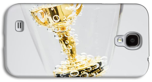 Closeup Of Small Trophy In Champagne Flute. Gold Colored Award I Galaxy S4 Case by Jorgo Photography - Wall Art Gallery