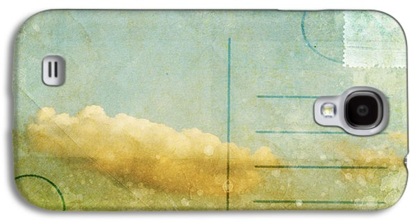 Cloud And Sky On Postcard Galaxy S4 Case by Setsiri Silapasuwanchai