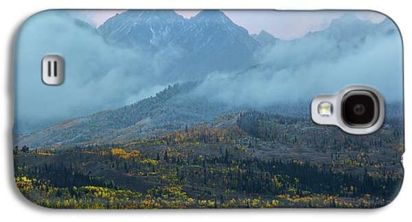 Galaxy S4 Case featuring the photograph Cloudy Peaks by Aaron Spong