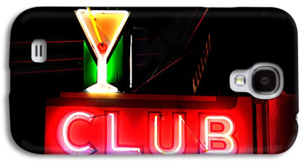 Club Neon Sign 24x20 Galaxy S4 Case by Melany Sarafis