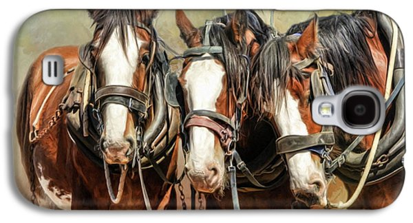 Clydesdale Conversation Galaxy S4 Case by Trudi Simmonds