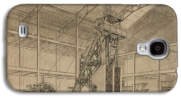 Coal Mine Hoist Galaxy S4 Case by Percy Hale Lund