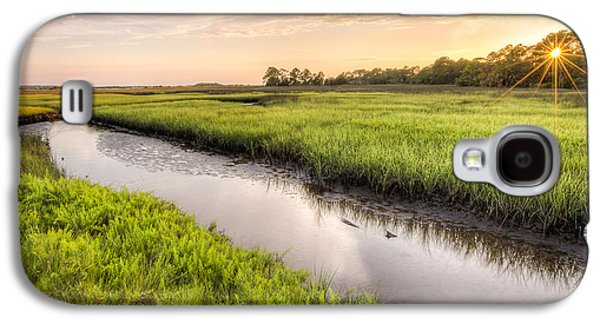 Coastal Florida Landscape - Late Afternoon On The Marsh  Galaxy S4 Case