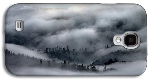 Coastal Range Ocean Fog Galaxy S4 Case by Leland D Howard