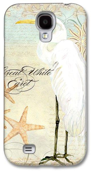 Coastal Waterways - Great White Egret 3 Galaxy S4 Case