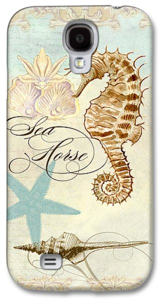 Coastal Waterways - Seahorse Rectangle 2 Galaxy S4 Case by Audrey Jeanne Roberts