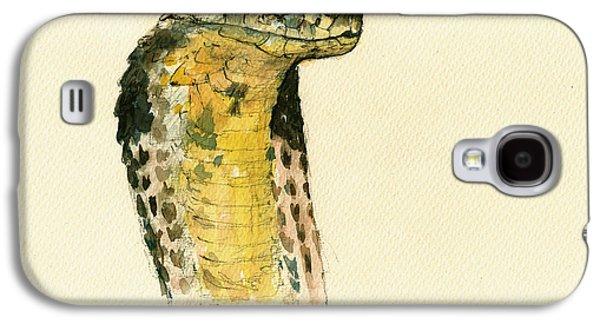 Cobra Snake Poster Galaxy S4 Case by Juan  Bosco