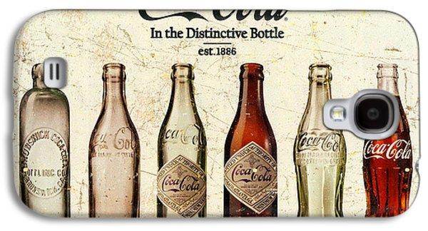 Coca-cola Bottle Evolution Vintage Sign Galaxy S4 Case