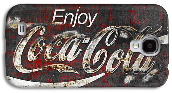 Coca Cola Grunge Sign Galaxy S4 Case by John Stephens
