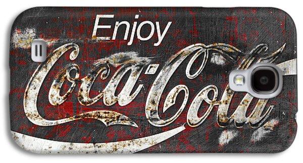 Coca Cola Grunge Sign Galaxy S4 Case