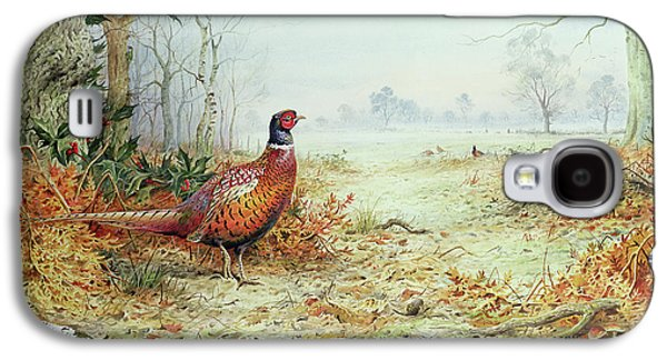 Cock Pheasant  Galaxy S4 Case by Carl Donner