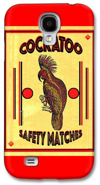 Cockatoo Galaxy S4 Case - Cockatoo Safety Matches by Carol Leigh