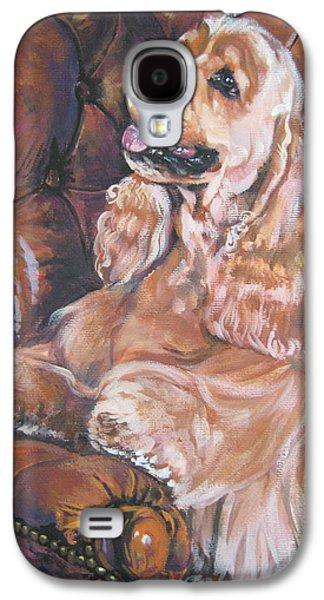 Cocker Spaniel On Chair Galaxy S4 Case by Lee Ann Shepard