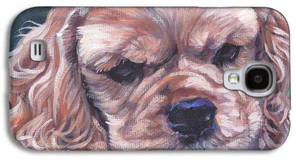 Cocker Spaniel Puppy Galaxy S4 Case by Lee Ann Shepard