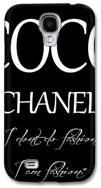 Coco Chanel Quote Galaxy S4 Case