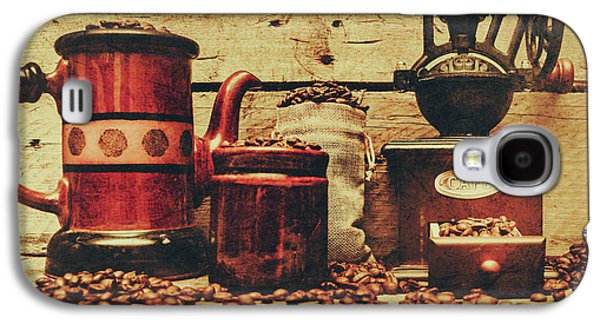 Coffee Bean Grinder Beside Old Pot Galaxy S4 Case by Jorgo Photography - Wall Art Gallery