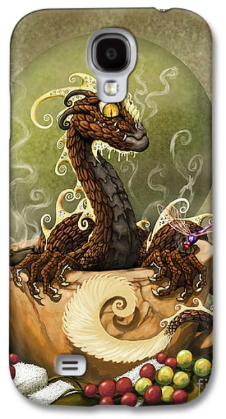 Dragon Galaxy S4 Case - Coffee Dragon by Stanley Morrison