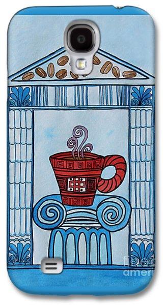 Coffee Palace Blue Galaxy S4 Case