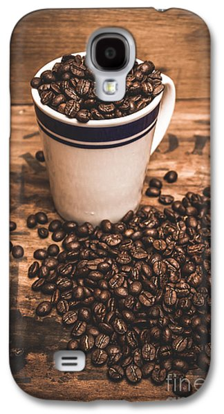 Coffee Shop Cup And Beans Galaxy S4 Case by Jorgo Photography - Wall Art Gallery