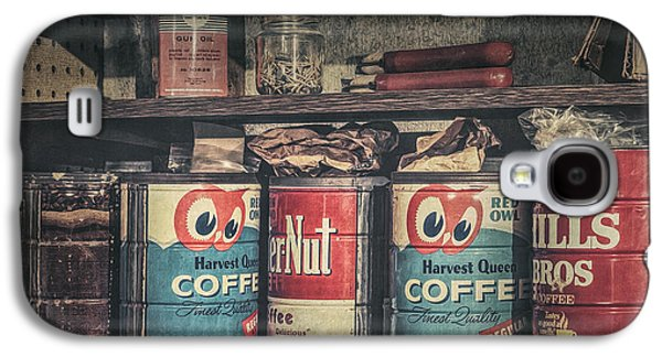 Coffee Tins All In A Row Galaxy S4 Case by Scott Norris