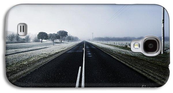 Cold Blue Winter Road Galaxy S4 Case
