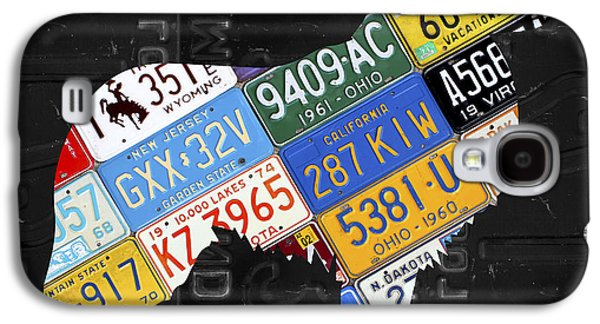 Collie Dog Pet Owner Love Vintage Recycled License Plate Artwork Galaxy S4 Case