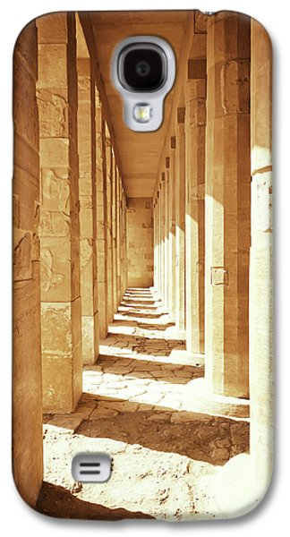 Colonnade At The Temple Of Queen Hatshepsut In Egypt Galaxy S4 Case by Jaroslav Frank