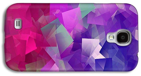 Color Block - Purples Galaxy S4 Case