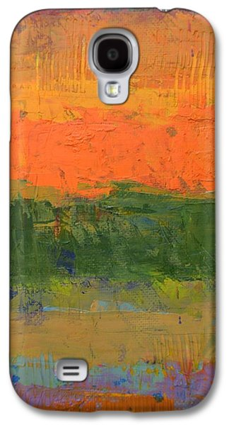 Galaxy S4 Case featuring the painting Color Collage Four by Michelle Calkins