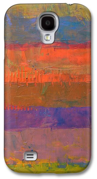 Galaxy S4 Case featuring the painting Color Collage Two by Michelle Calkins
