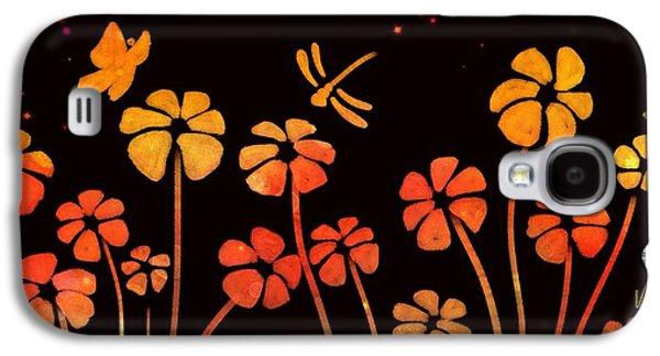 Color Game Series Orange Galaxy S4 Case by Veronica Minozzi