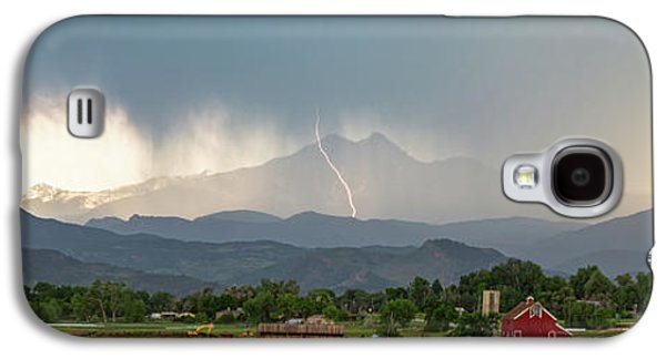 Galaxy S4 Case featuring the photograph Colorado Front Range Lightning And Rain Panorama View by James BO Insogna