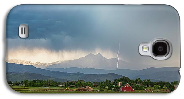 Galaxy S4 Case featuring the photograph Colorado Rocky Mountain Red Barn Country Storm by James BO Insogna