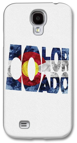 Colorado Typographic Map Flag Galaxy S4 Case