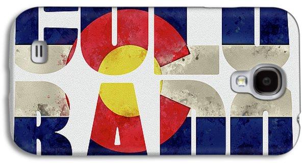 Colorado Typography Map Flag Galaxy S4 Case