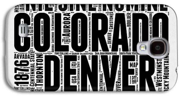 Colorado Word Cloud Map 2 Galaxy S4 Case by Naxart Studio