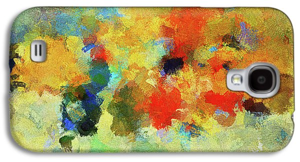 Colorful Abstract Art - Abstract Landscape Galaxy S4 Case by Ayse Deniz