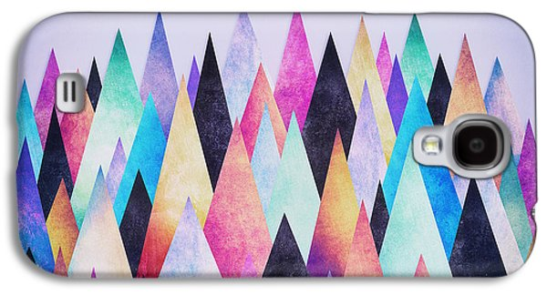 Colorful Abstract Geometric Triangle Peak Woods  Galaxy S4 Case