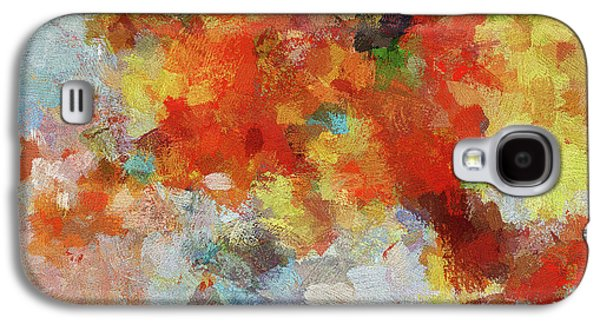 Colorful Abstract Landscape Painting Galaxy S4 Case by Ayse Deniz