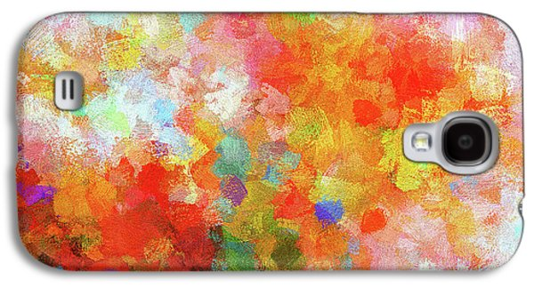 Colorful Abstract Painting Galaxy S4 Case by Ayse Deniz