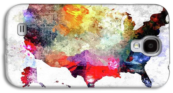 Colorful America Map Galaxy S4 Case