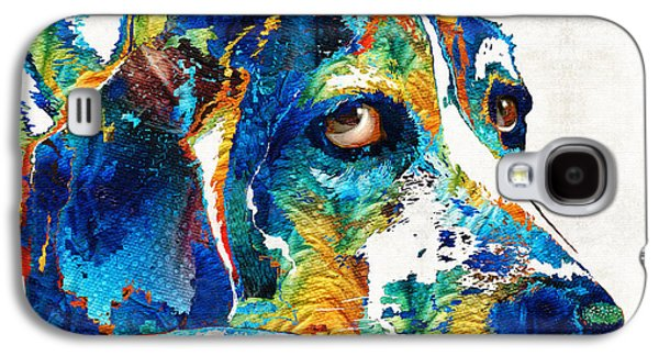 Colorful Beagle Dog Art By Sharon Cummings Galaxy S4 Case by Sharon Cummings